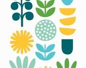 A5 Plant Shapes print