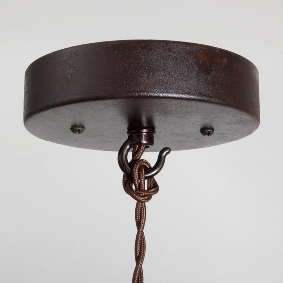 Ceiling Canopy Kit Ebonized Rust Pendant Light By FleaMarketRx