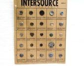 Salesman Button Sample Card, Vintage Button Factory Sample Card, Vintage Card of Buttons