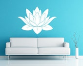 Lotus Flower Vinyl Decal Wall Art Spiritual Decal Namaste Wall Mural Graphics for Home, Kids, Children, Dorms, Baby Nursery