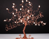 Custom Business Card Holder Wire Tree Sculpture in any Colors
