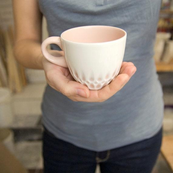 porcelaine tasse caf th desservant la main unique. Black Bedroom Furniture Sets. Home Design Ideas