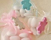 10 Baptism Favors, Bomboniere Almond Favor, Teddy Charm / Baptism / Baby Shower/Kids Party Favor//Wedding Kids