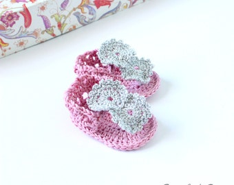 Crochet Pattern Baby Flip Flops Girl Sandals, Crochet Flip Flop Pattern, Crochet Baby Sandals Pattern, Baby Crochet Flip Flops