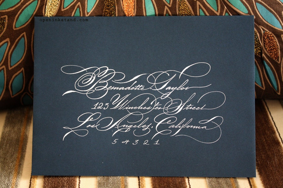Spencerian Script Hand Calligraphy Envelope Address
