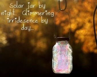 Fall Decor - Mason Jar Solar Light - Fairy Lantern - Garden Decoration - Outdoor Lighting - Fairy Jar - Mason Jar Decor - Gift For Kids