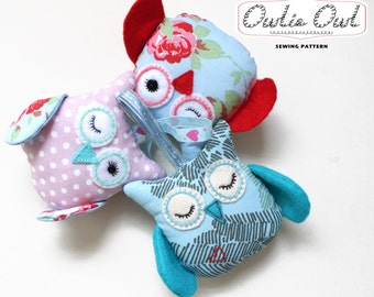 Owl Plushie  - Hanging PDF Sewing PATTERN