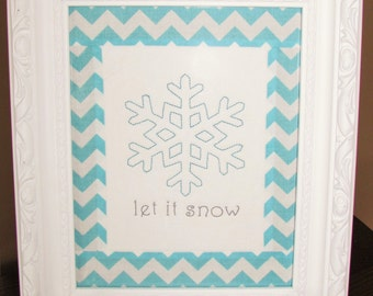5x7in. simple, clean snowflake will enhance your home decor for winter and it won't take long to make!