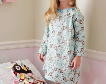 Sadie Grace Nightgown PDF sewing pattern for girls instant download, Christmas pajamas nightgown sewing pattern girls Seamingly Smitten