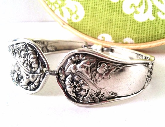 Antique Spoon Bracelet, Size Large, Wildwood 1908