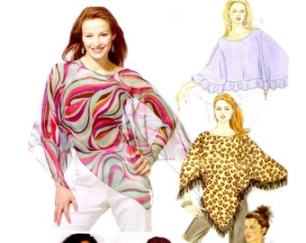 UNCUT PONCHO  CAPELET Sewing Pattern - 2005 McCalls 4840, Misses'  XSmall, Small, Medium - Twelve Options - Boho, Hippie, Retro