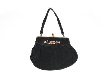 Vintage tapestry bag, tapestry purse, vintage purse, vintage bag, vintage handbag, tapestry handbag, vintage evening bag, floral tapestry
