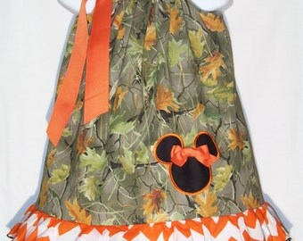 Minnie Mouse Pillowcase Dress / CAMO & Chevron / Realtree Camo / Disney/ Birthday/ Infant / Baby / Toddler / Girl / Custom Boutique Clothing