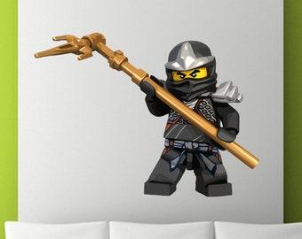 Ninjago lloyd abnehmbare wiederverwendbaren wand von stickymania - Lego wandtattoo ...