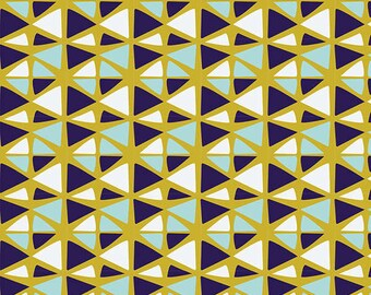 Geometric in Citron fabric