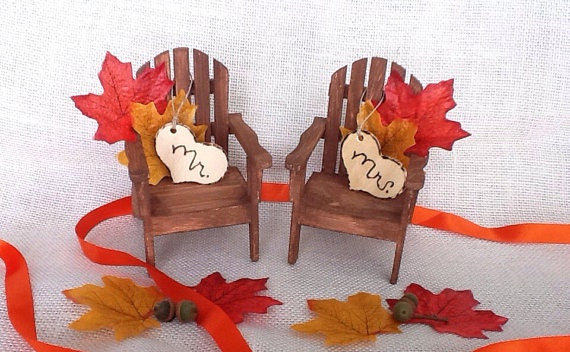 fall wedding cake toppers adirondack cake topper fall wedding chairs by nauticalweddings 14178