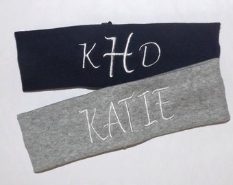 Set of 2 Monogrammed Headbands - Many Colors to Choose From