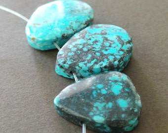 Organic Smooth Turquoise Slabs Pendant size