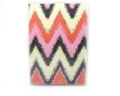 Passport Cover - Desert Dreams - ikat pink, orange, grey and vanilla sparkle chevrons - passport holder - ikat zigzags - travel gift