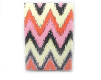 Passport Cover - Desert Dreams - ikat pink, orange, grey and vanilla sparkle chevrons - passport holder - ikat zigzags - travel gift