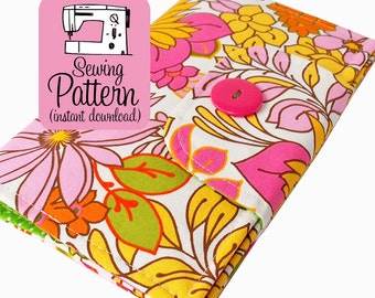 Swatch Book Cover PDF Sewing Pattern | Notebook Journal Cover Sewing Pattern PDF