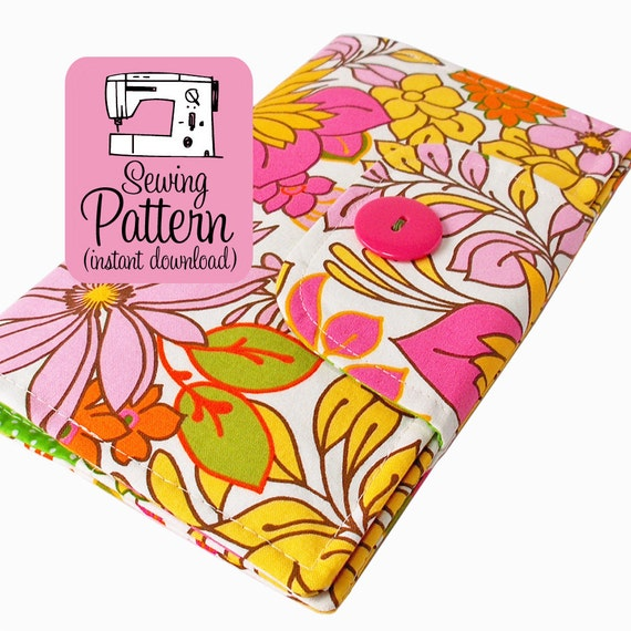 Book Cover Patterns Photo : Swatch book cover pdf sewing pattern notebook journal