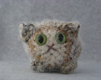 Crocheted tortie calico plush kitty