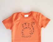 Tiger, cute shower gift, orange baby gift, gender neutral baby, tiger cub (orange 0-3 months)