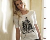 Anne Boleyn Elbow Length  Woman's T-shirt Tartx