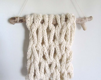 Cream Statement Scarf Knit Knit