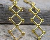 Spring Rhapsody - Trellis Earrings  ... woven gold branches
