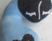 Olive plush doll the colour of clouds