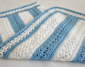 Crocheted Baby Blanket - Crocheted Baby Afghan Babyghan - Great Baby Shower Gift - Made To Order