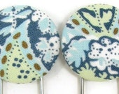 Set of 2 Jumbo Paperclips in Blue Paisley