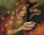 Sage Goddess Gypsy Pagan Goddess Psychedelic Art 11x14 Poster Print