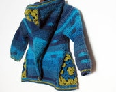 Ermeline  - CROCHET PATTERN for boys and girls cardigan size 2T to 8 year old