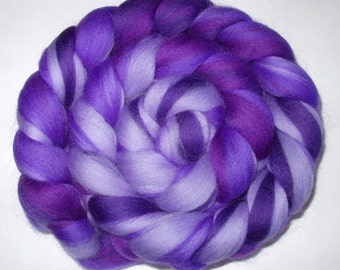 Rainbow merino wool roving, extra soft, spinning fiber, felting fiber, nuno felting wool, needle felting wool, dreads,merino wool top, 3.5oz