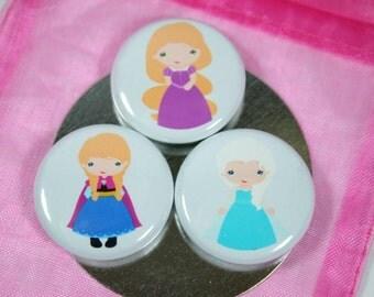 Gift for Her, Princess Magnet Set, Super Girl Magnet Set