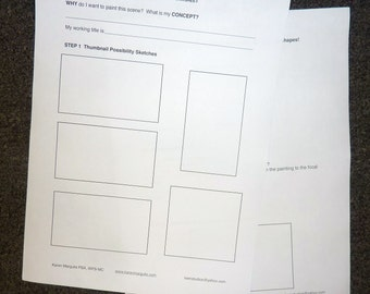 Paint with a Plan Painting Planning WORKSHEET  PDF Plan for Better Paintings
