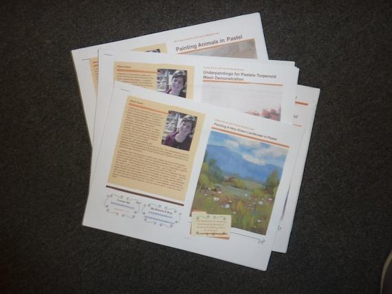 Set of 5  Pastel Painting Lesson Demo Art Tutorial  PDF booklet Karen Margulis psa PART 1