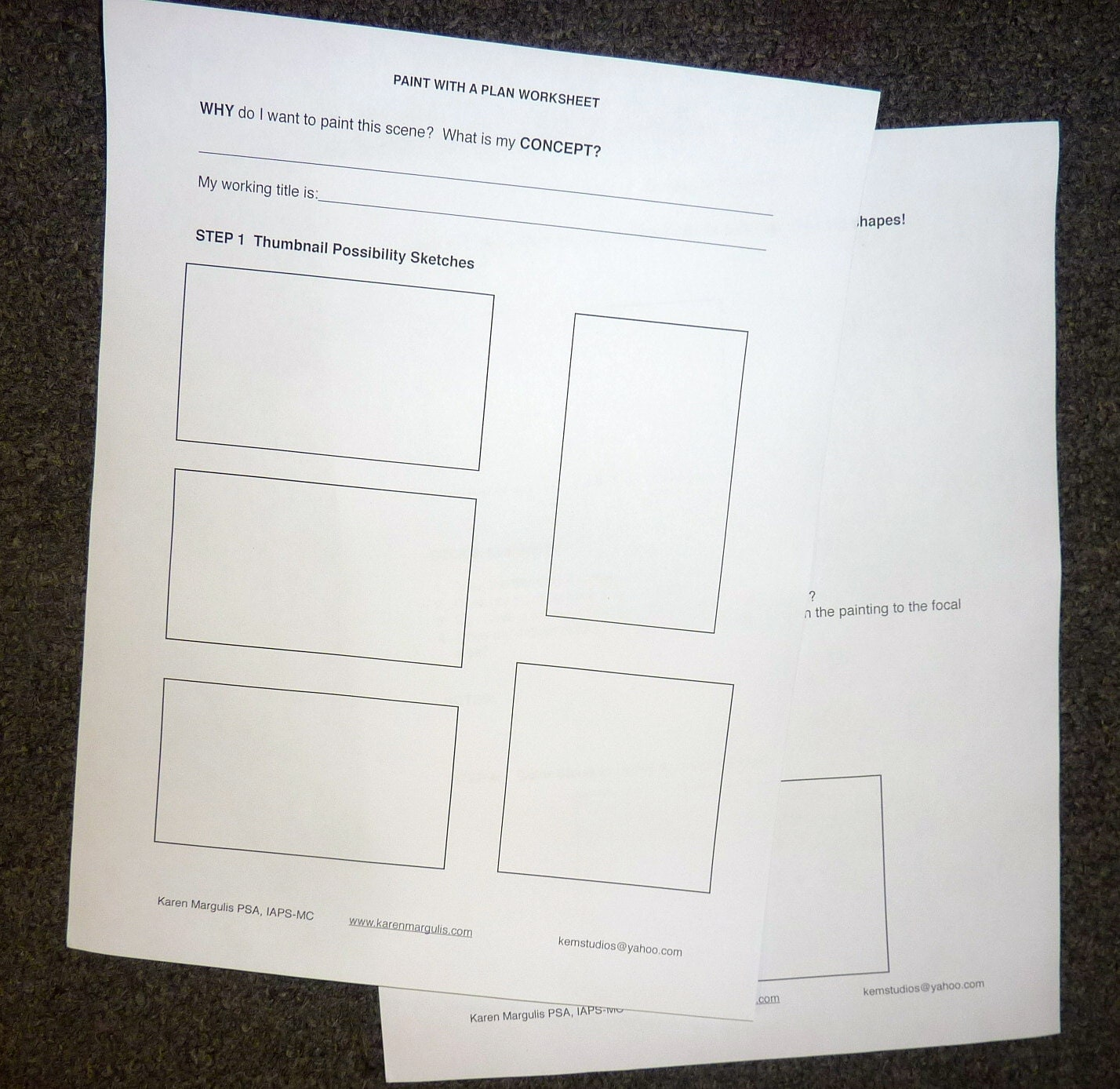 Paint with a plan painting planning worksheet pdf plan for for Paint planner