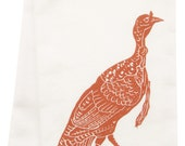NEW organic block print turkey towel