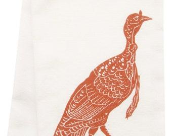 NEW organic block print turkey towel