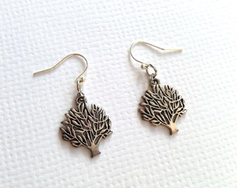 Tree Of Life Silver-plated Earrings, Forever Tree Earrings, Dangle Earrings, Everyday Earrings, BFF Gift, Birthday Gift, Graduation Gift