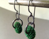 Disc Link Earring - fiddlehead