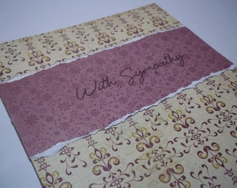 Sympathy Card, Sympathy Greeting Card, Sorry For Your Loss, Handmade Sympathy Card