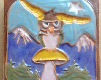 The Jester OWL on a Mushroom Tile