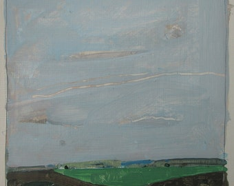 May Wedge, Original Landscape Painting on Paper, Stooshinoff