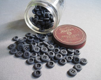 vintage soldier gray matte buttons lot of 60