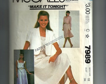 McCall's Misses' Dress and Jacket Pattern 7989